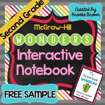 McGraw-Hill Wonders INTERACTIVE NOTEBOOK FREE SAMPLE! {Sec ...