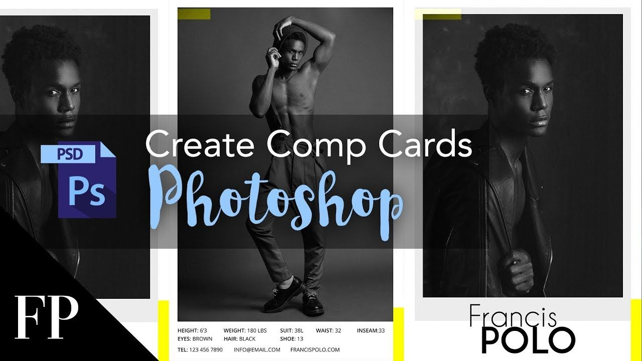 Model Comp Card With Adobe Photoshop Free Template With Free Model Comp Card Template Psd Cumed Org Model Comp Card Card Templates Free Card Template