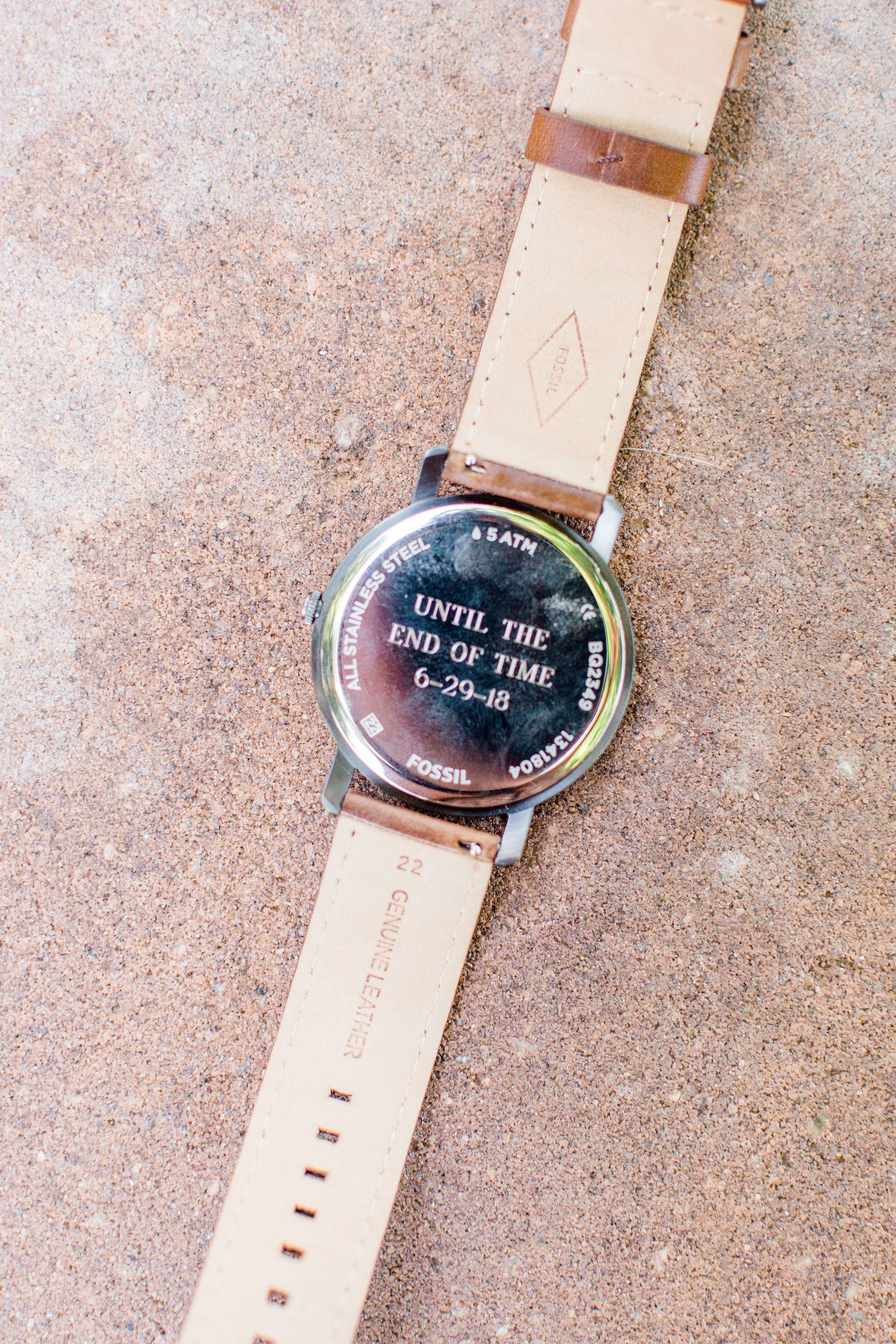 Gift From Bride To Groom Fossil Watch With Engraving Of Wedding Date Wedding Gifts For Groom Bride Gifts Bride And Groom Gifts