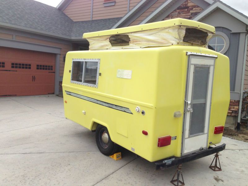 vintage collectible 1972 compact jr scamp style camper all fiberglass nice nr in rvs campers. Black Bedroom Furniture Sets. Home Design Ideas