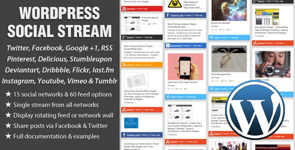 WordPress Social Stream Update - v1.4.3 includes twitter & facebook ...