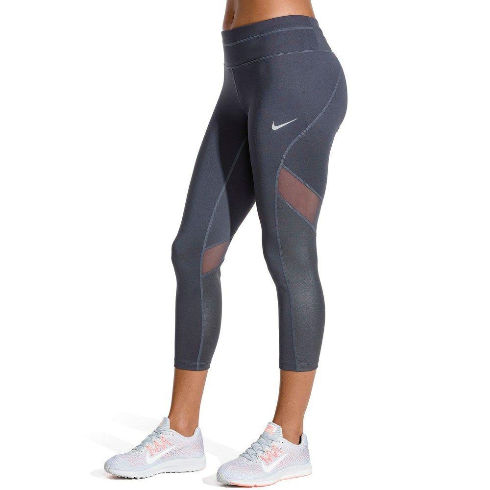 543352728d00c6 Women's Nike Sprinter Running Midrise Capri Leggings, Size: Medium, Grey