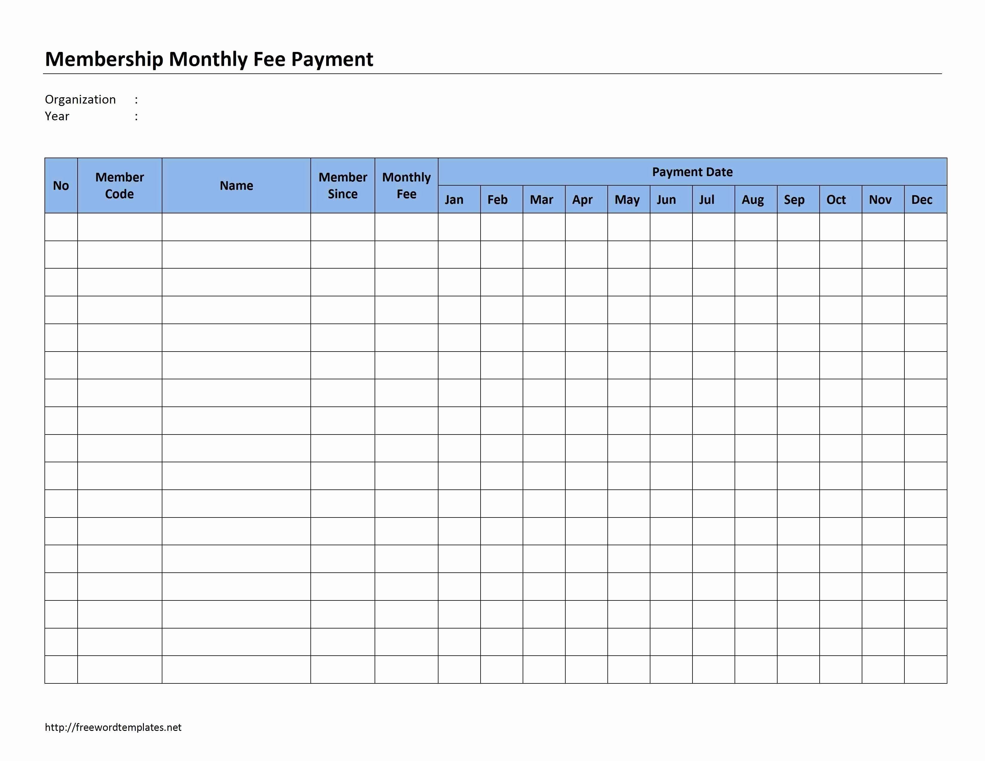Bill Pay Schedule Template Inspirational Payment Schedule Template