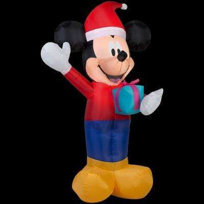 2559 in W x 1969 in D x 4213 in H Lighted Inflatable Mickey - inflatable outdoor christmas decorations