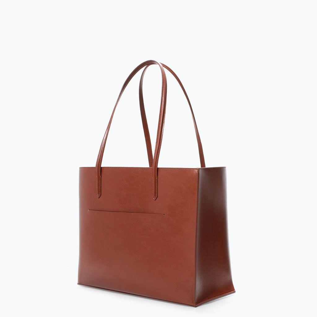 Zara Shoes Bags Shopper Bag With Pocket Shopper Tasche Taschen Shopper