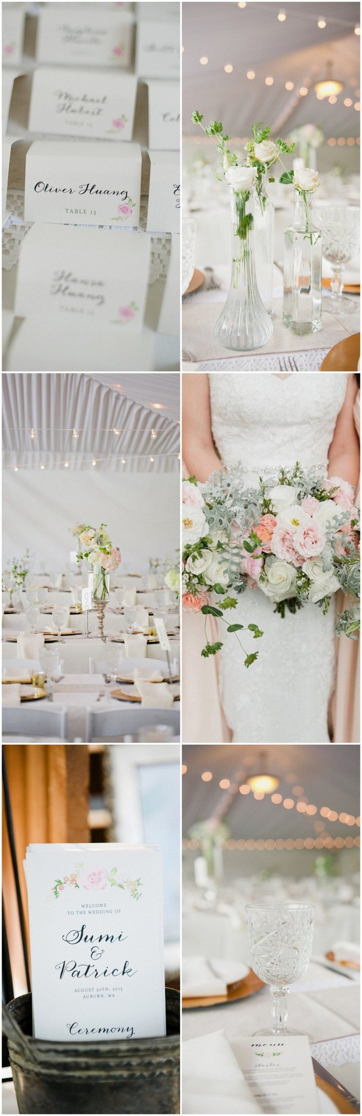 Blush, Gold + Watercolor Outdoor Seattle Wedding {Meredith McKee ...