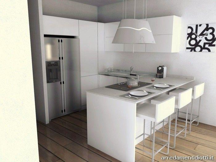 entrare e trovare la cucina open space sulla sinistra