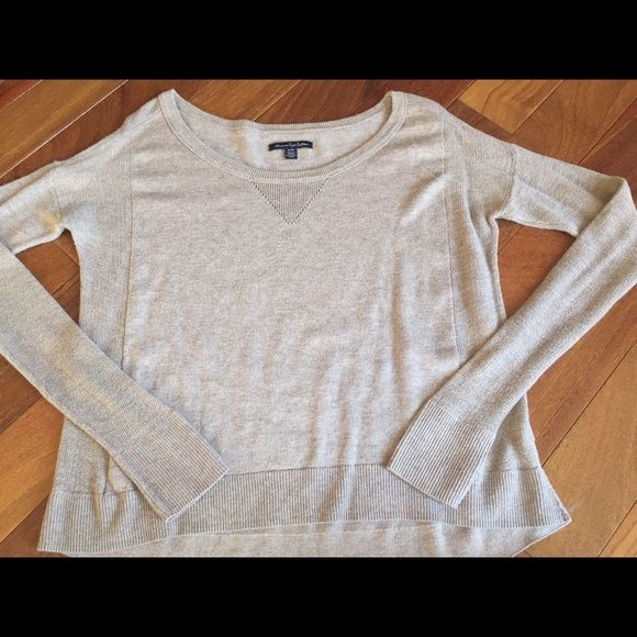 Long sleeve shirt. Tan long sleeve sweater from American Eagle. Size x-small. Worn once, great condition. American Eagle Outfitters Sweaters Crew & Scoop Necks