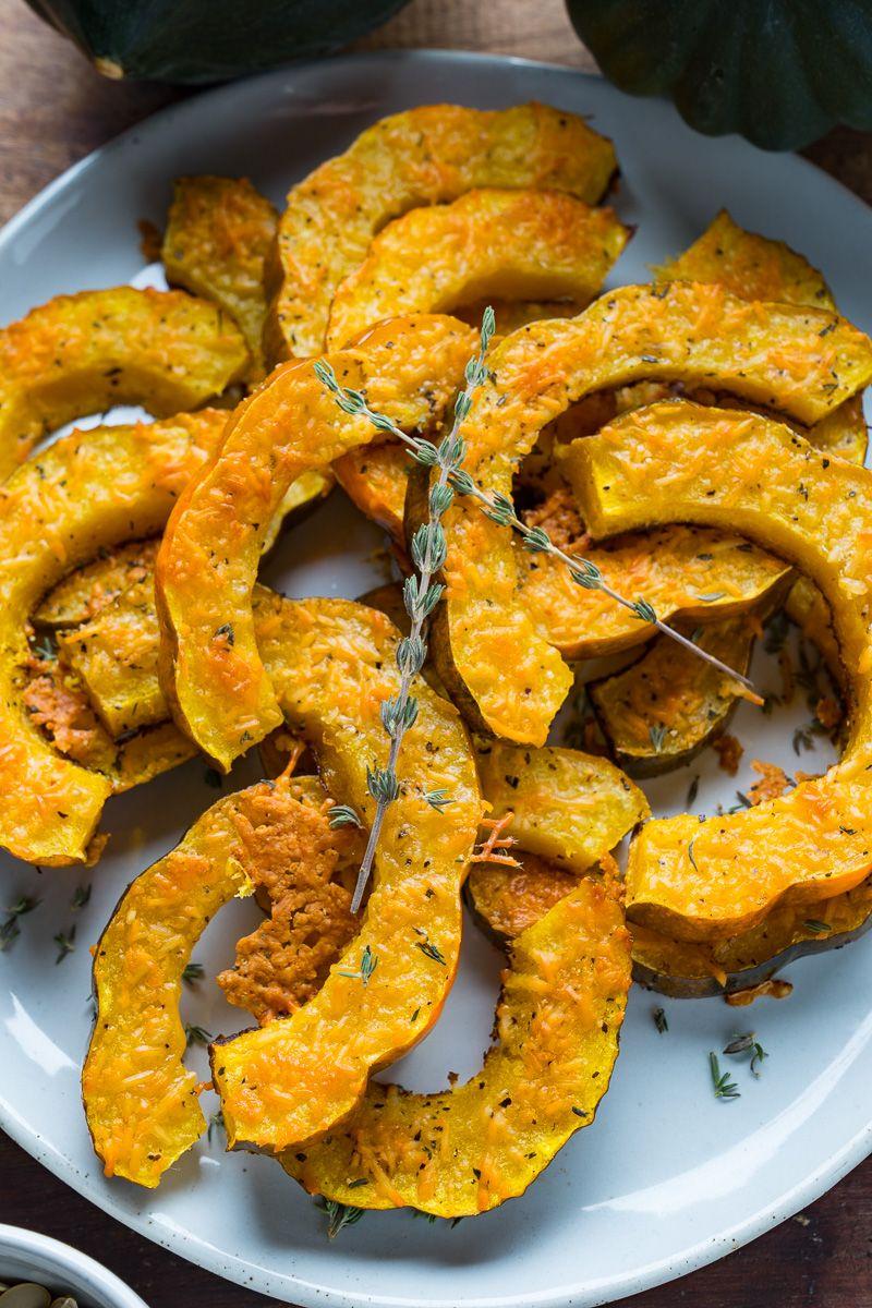Parmesan Roasted Acorn Squash Recipe Acorn Squash Acorn