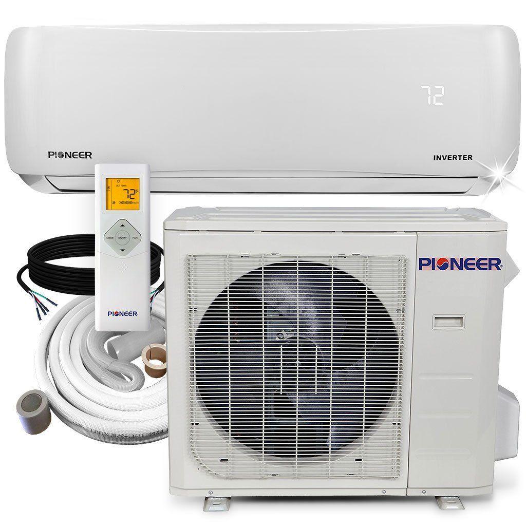 Pioneer 24 000 Btu 17 Seer 230v Ductless Mini Split Air Conditioner Heat Pump System Full Set Heat Pump System Smallest Air Conditioner Air Conditioner Inverter