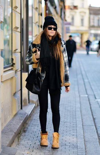 timberland noir femme style