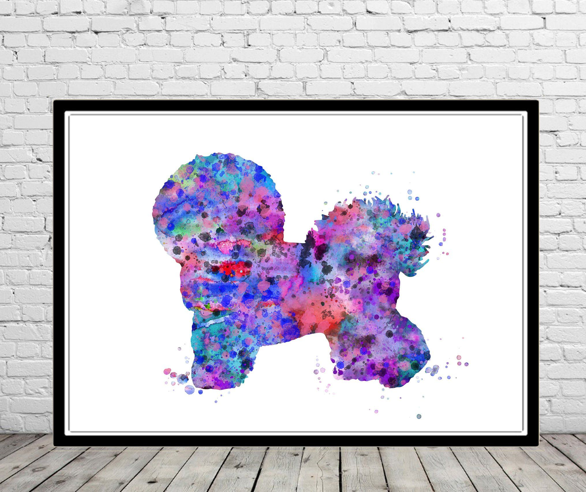 Bichon Frise Watercolor Print Dog Print Watercolor Bichon Frise