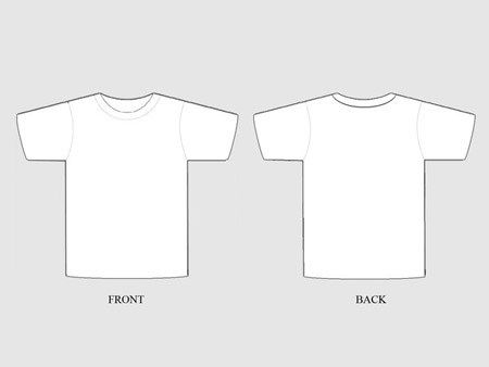 19 Free Blank T Shirt Template Designs – UCreative.com | my ...