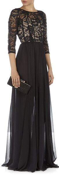 Alice + Olivia Robinson Gown in Black (floral) - Lyst