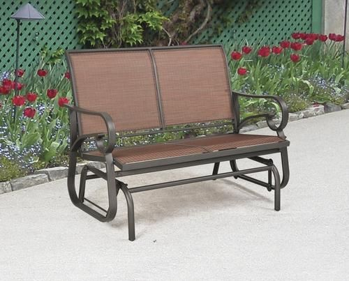 Delmar Double Glider At Menards Deck Furniture Outdoor Furniture Deck Design