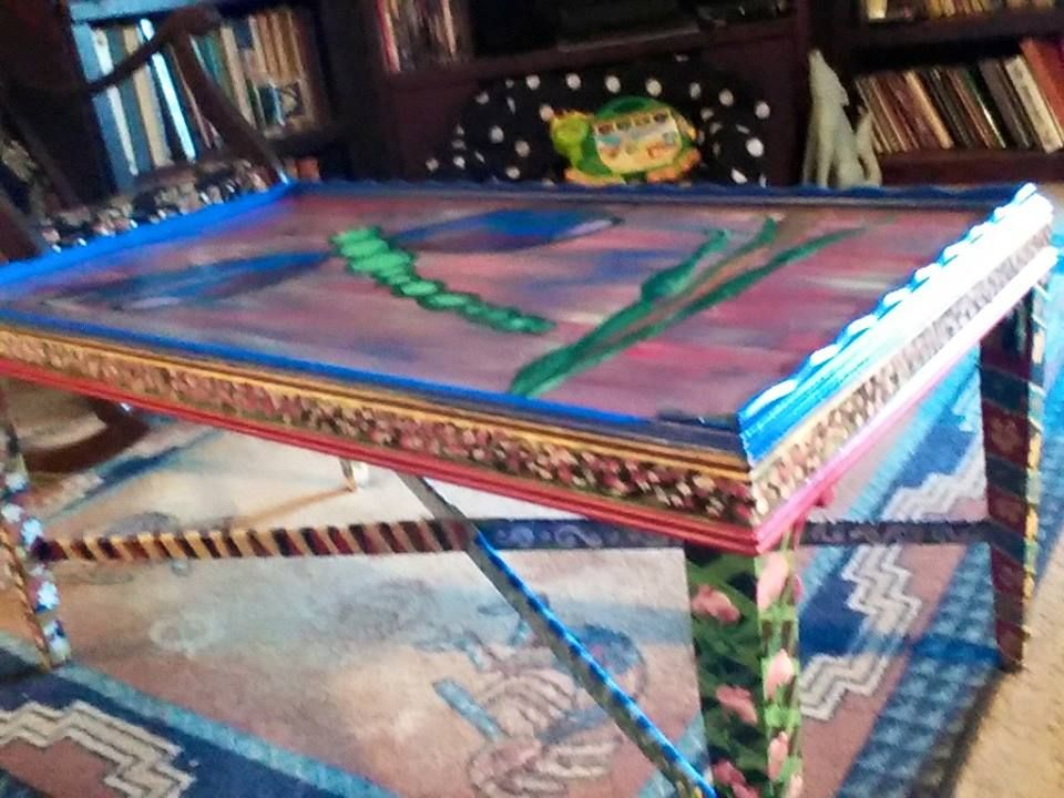 Top And Side Of My First Hand Painted Bohemian Style