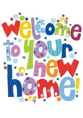 Welcome to your new home | New Home Card | New home cards ...