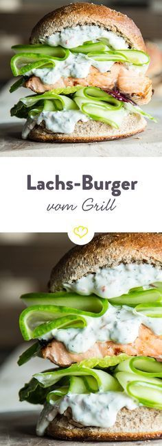 Hochstapler: Lachs-Burger vom Grill mit Chili-Dill-Mayonnaise - #athome #fitness #healthy #minutes #...