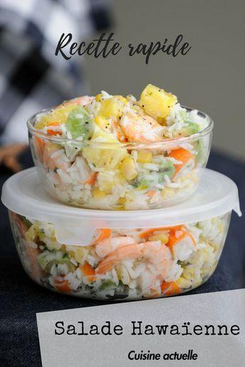 Salade hawaienne  Recipe in 2019  cuisine  Salade hawaenne Recette Recettes de cuisine