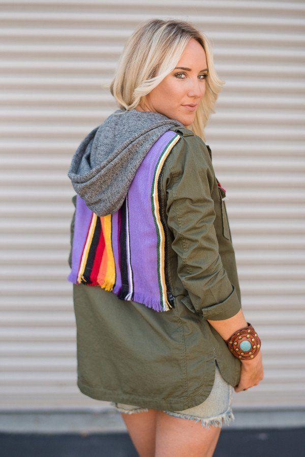 SERAPE Jacket FRESH addition. Cargo military style jacket paid with serape…