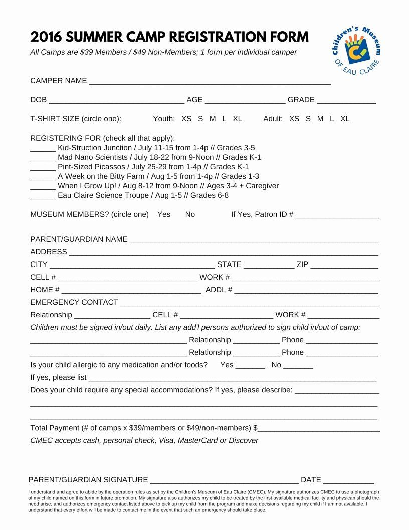 Camp Registration Form Template Word Lovely Boot Camp Registration Form Template Templates Resume Registration Form Templates Registration Form Template Word
