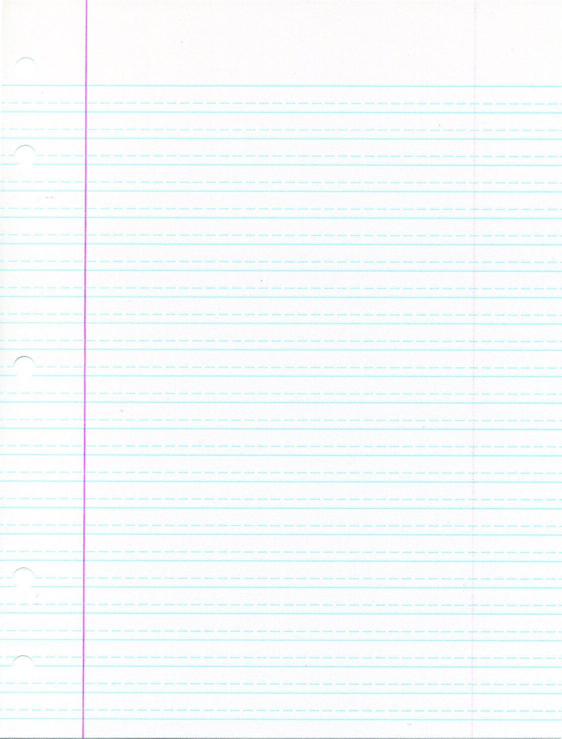 Adapted Lined Paper School Smart Cursive Ruled Notebook Paper