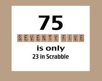 75th Birthday Card 1942 Milestone Scrabble