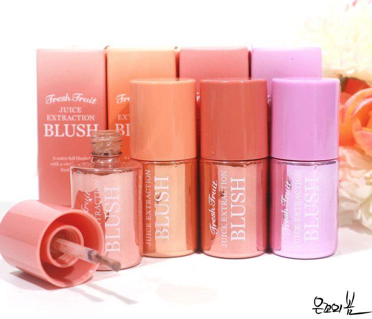 Skinfood Fresh Fruit Juice Extraction Blush Swatches And Review Skin Food Fresh Fruit Juice Fresh Fruit