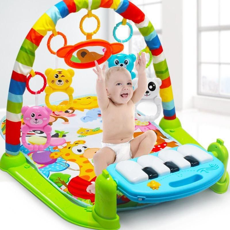 Baby gym play mat toys piano keyboard music blanket