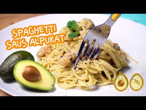 Spaghetti Saus Alpukat Avocado Carbonara Youtube Memasak Alpukat Spageti