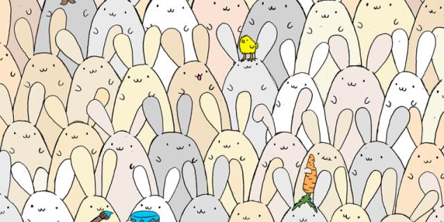 Desafío: encontrar el huevo entre todos estos conejos! #Felicespascuas