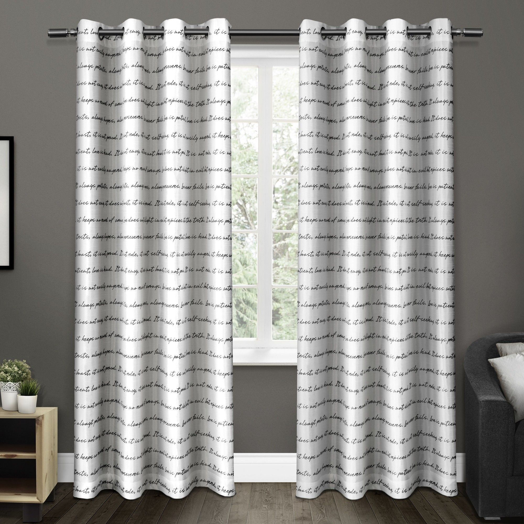 Exclusive Home Top Window Curtain Panel