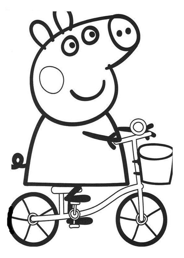 4 Años | Dibujos para pintar | Pinterest | Peppa pig para colorear ...