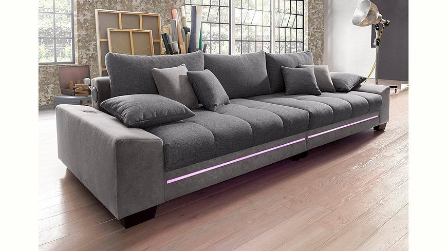 Big Sofa Mit Beleuchtung Wahlweise Bluetooth Soundsystem Energieeffizienz A Jetzt Bestellen Unter Moebelladendirektde Wohnzimmer Sofas