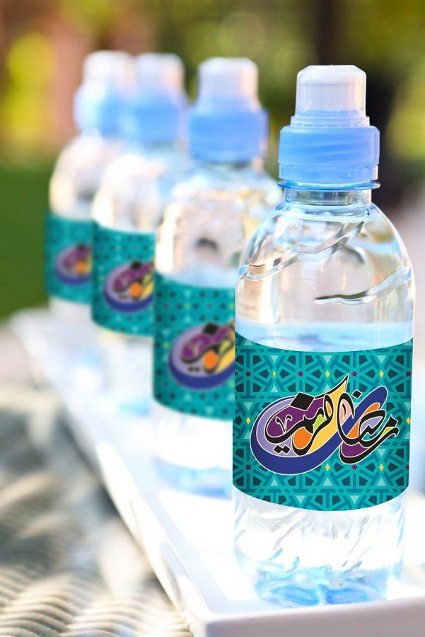 Ramadan stickers decorate your iftar water bottles for Decor water bottle