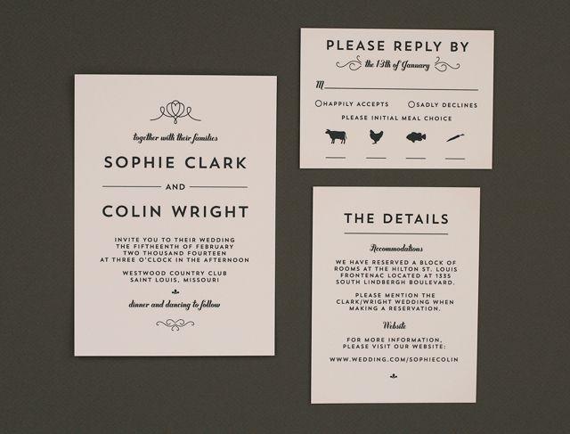 Crafty Pie Press Modern Vintage Wedding Invitations Weddinglovely Blog