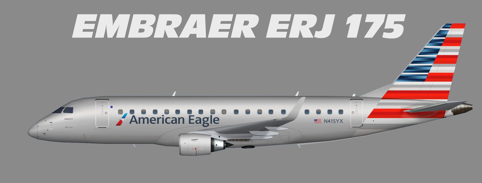 American Eagle Embraer ERJ 175 | ERJ 175 | Aircraft ... - photo#26