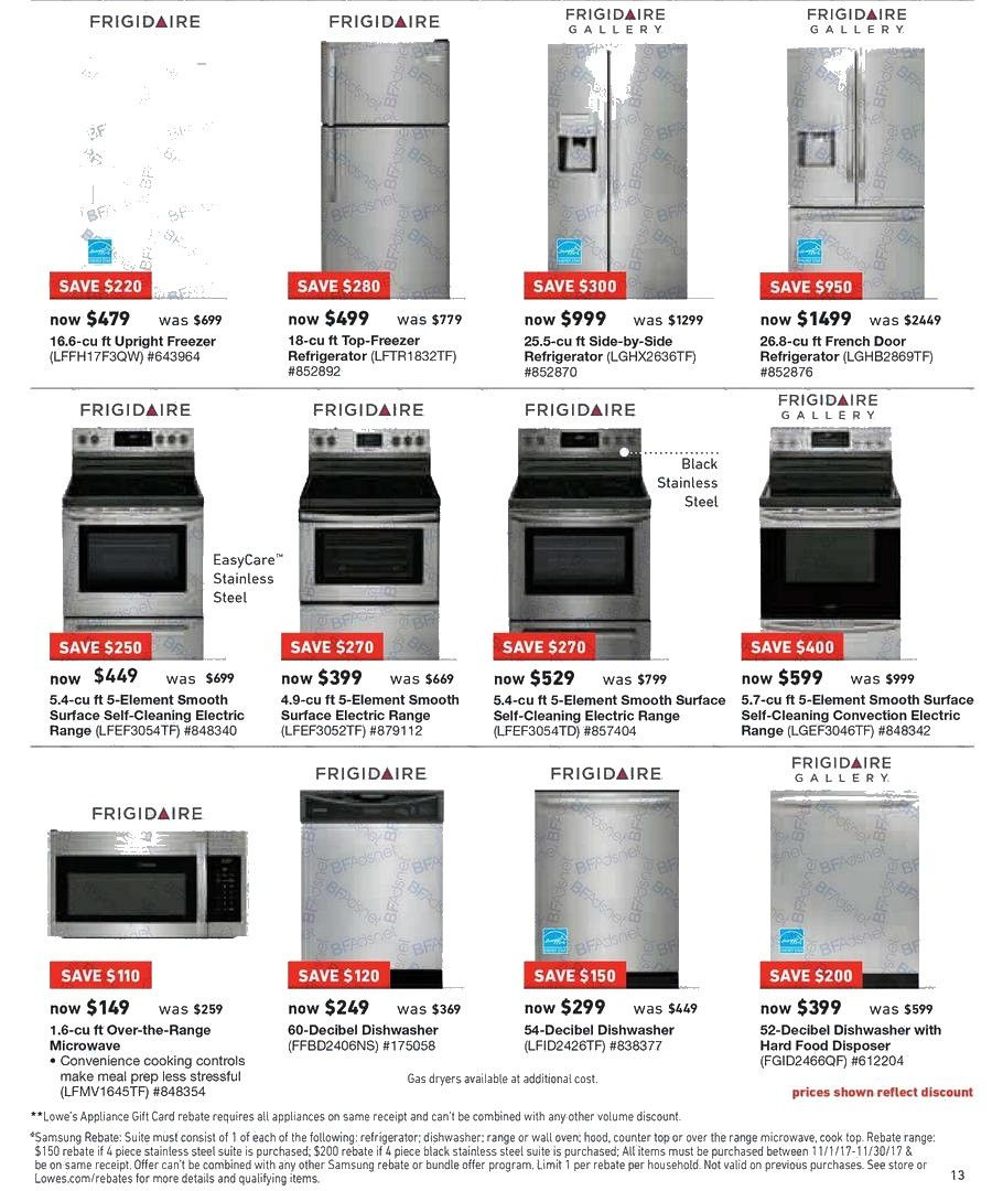 Lowes Black Friday Page 6 Black Friday Frigidaire Gallery Lowes