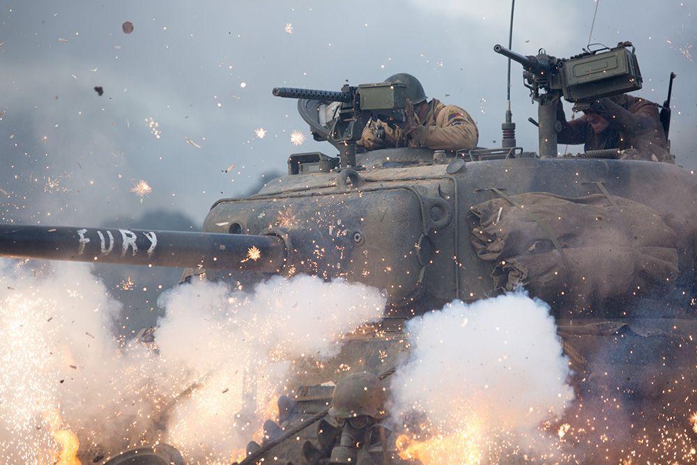 FURY / The crew of the Sherman tank 'Fury', take on an opposing