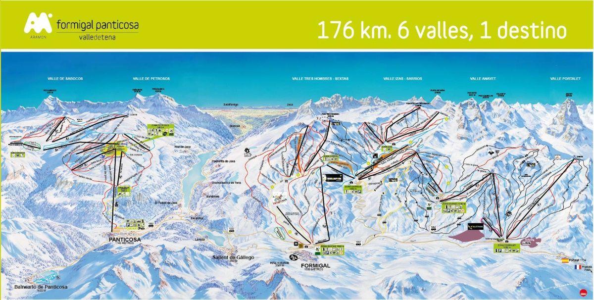 Mapa De Pistas Formigal Panticosa Aramon Estaciones De Esqui