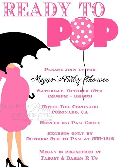 Ready To Pop Baby Shower Invitations Pink Invitation