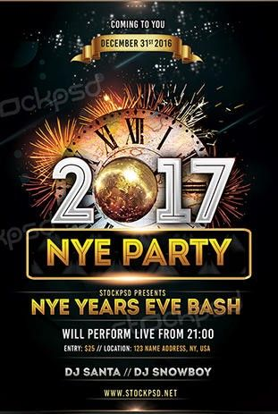 2017 NYE Vol4 u2013 Download Free PSD Flyer Template - Free PSD Flyer - download free flyer templates word
