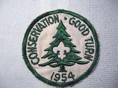 Vintage Boy Scout 1954 Conservation Good Turn Patch