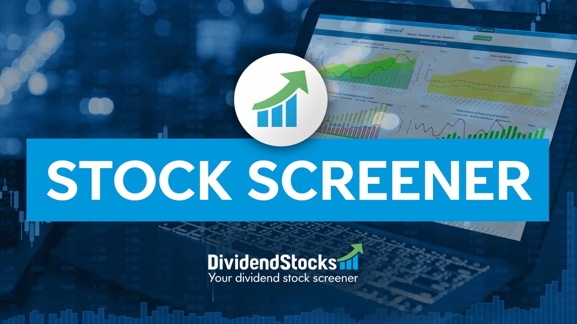 Dividend calendar covering more than 850 of the most