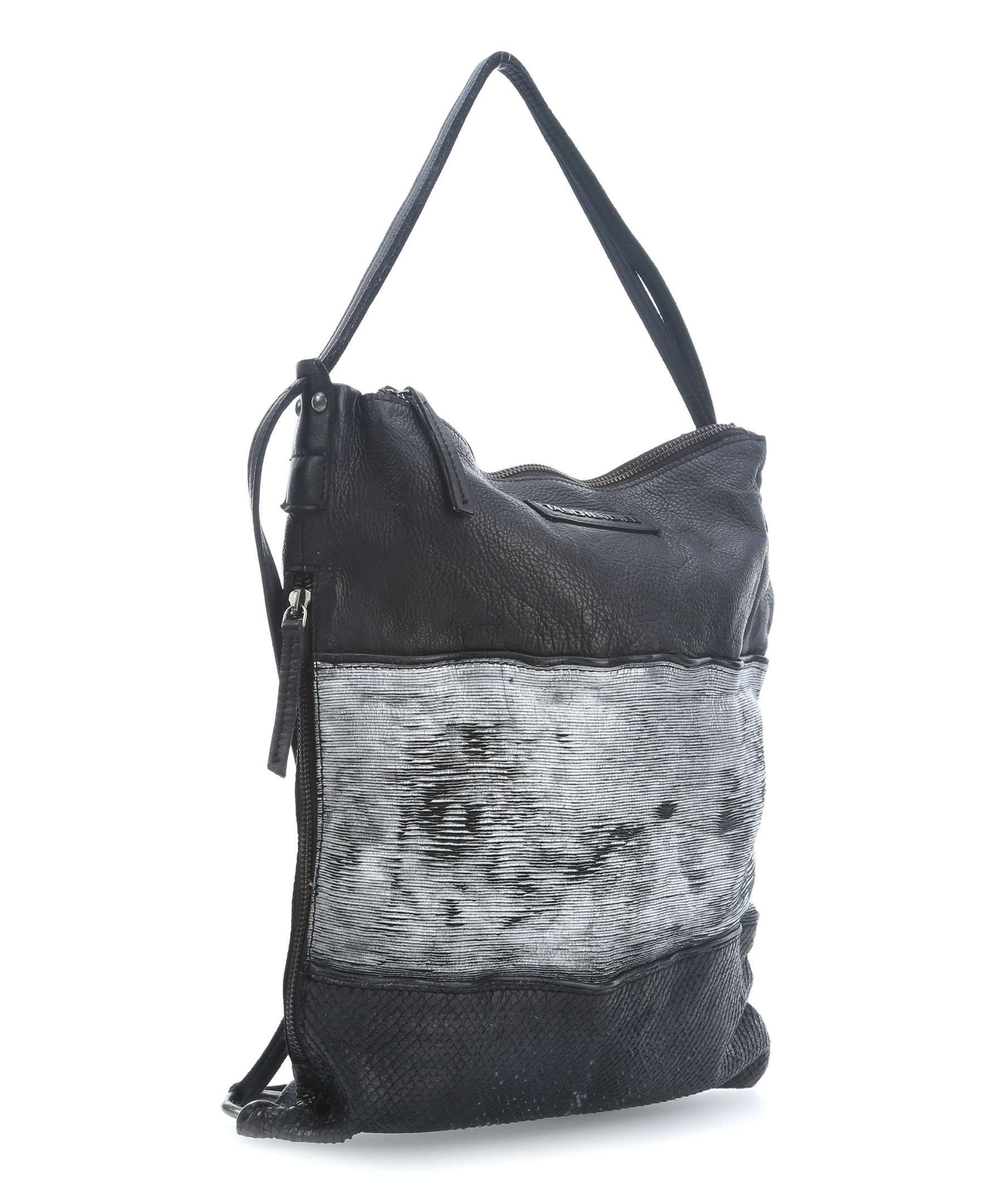 Taschendieb Wien Hobo grained leather anthracite TD0085a