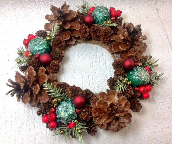 Christmas Wreath Red WreathChristmas balls by JohansonsMasterwork