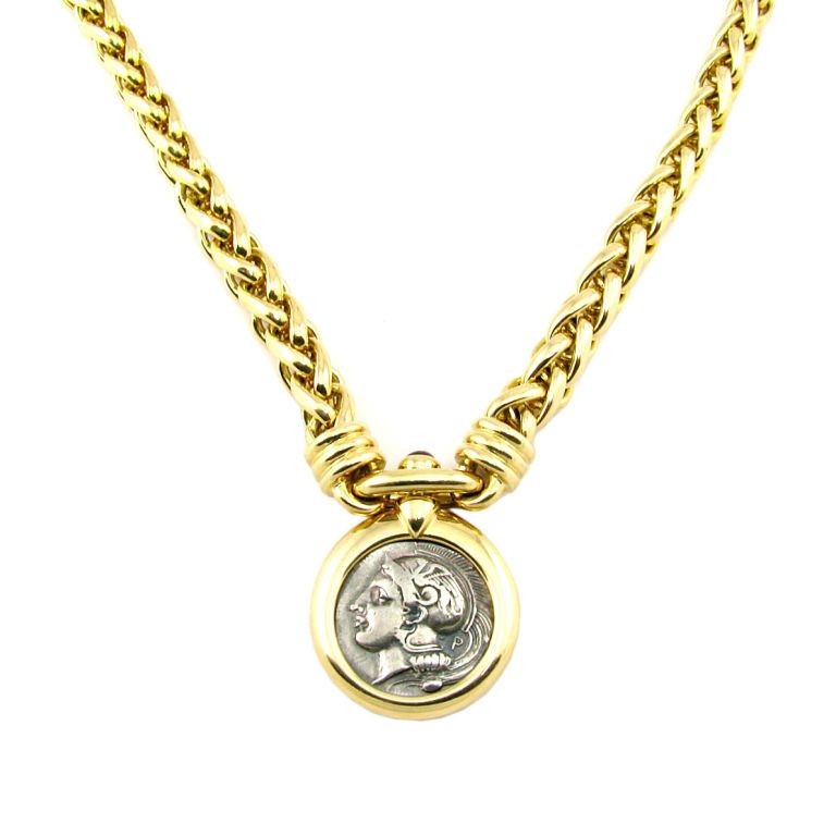 1STDIBSCOM Jewelry \ Watches - Bulgari - Bulgari Coin Necklace - deko für küchenwände