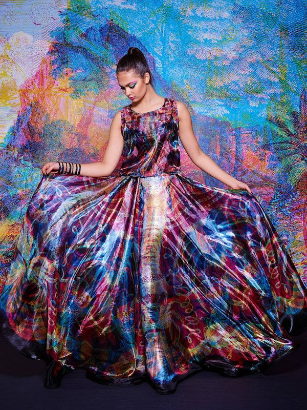 This Gown Does Amazing Things Under Colored Light