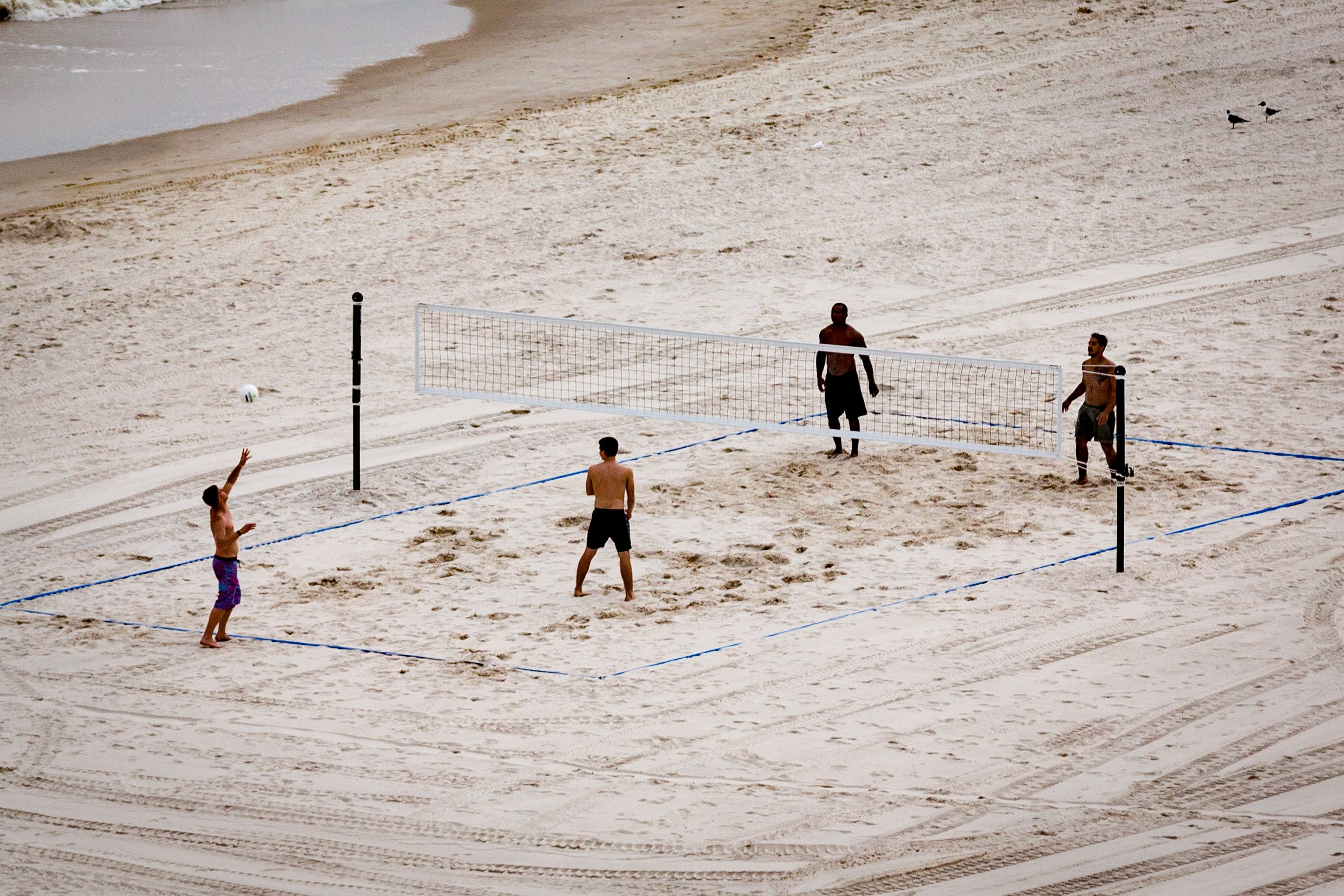 Recreational Volleyball Played On Sports Imports Volleyball Equipment Outdoor Volleyball Net Volleyball Equipment Volleyball Net