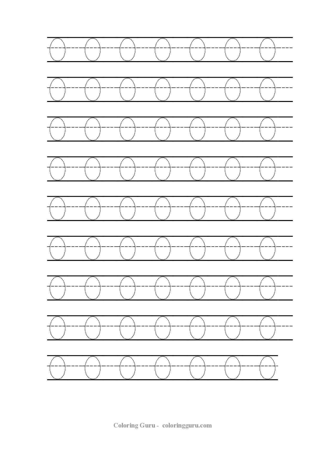 Free Printable Tracing Number 0 Worksheets